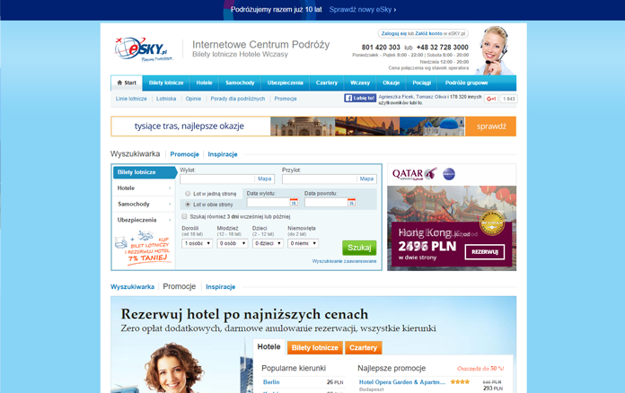Stara strona eSky.pl