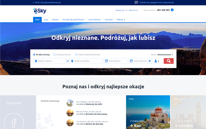 Nowa strona eSky.pl