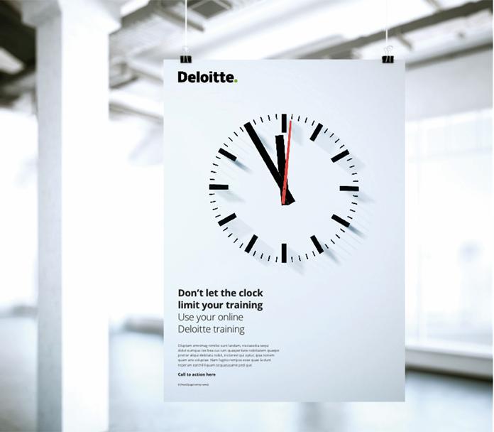 Plakat Deloitte - rebranding logo