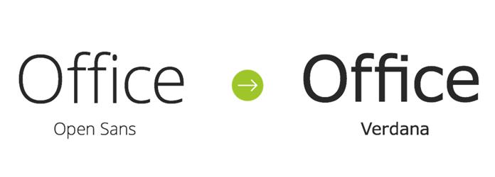 Open Sans i Verdana - fonty Deloitte