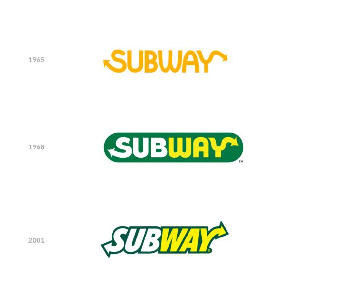 Historia logo Subway