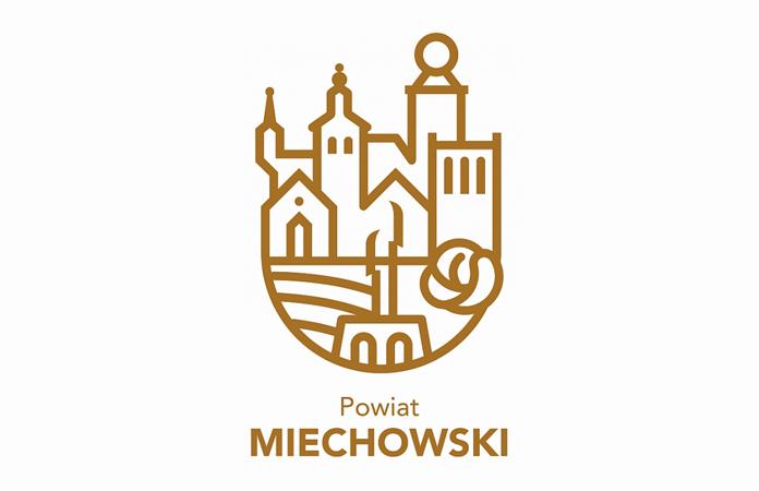 Powiat Miechowski - logo w wersji beżowej