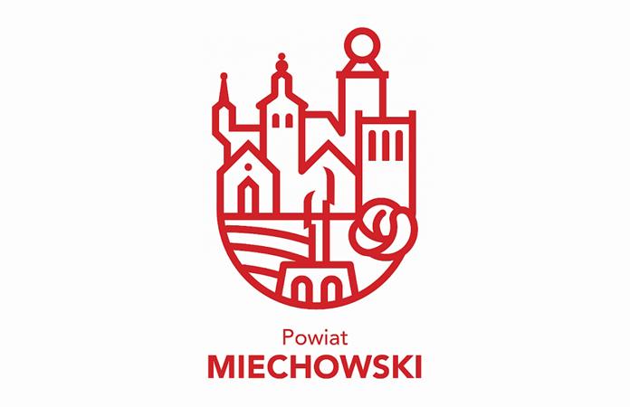 Logo powiatu miechowskiego - wersja pionowa
