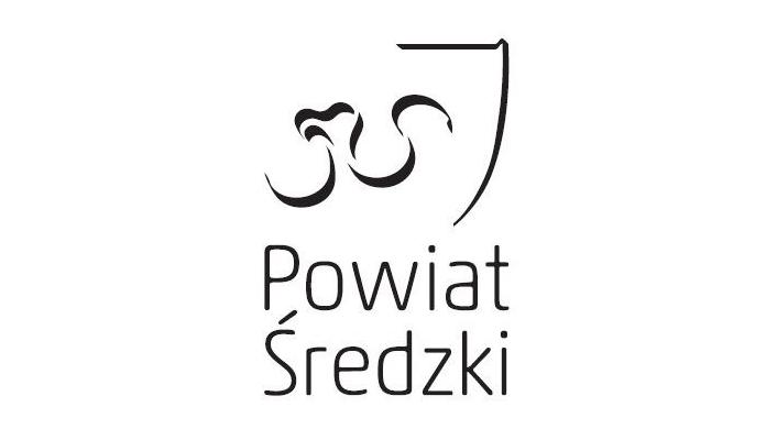 Logo Powiatu Średzkiego w pionie