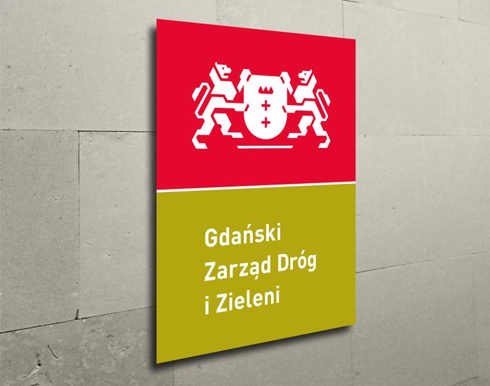 Wizualizacja gdańskiego logo zarządu dróg