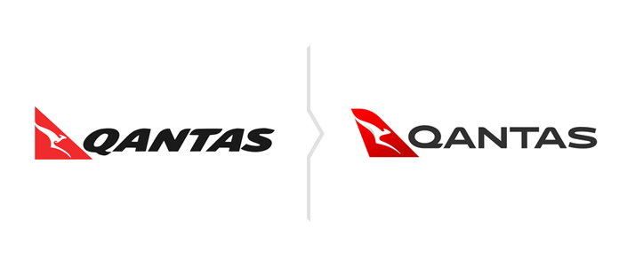 Qantas rebranding - nowe logo