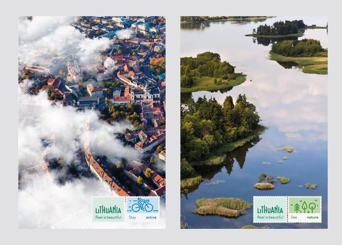 Promocyjne plakaty z nowym logo Litwy