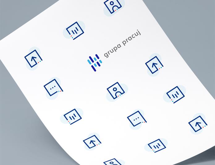 Zestaw nowych ikon - identyfikacja wizualna Grupy Pracuj