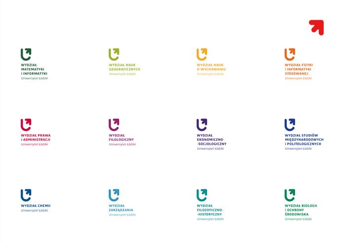 Nowe logo wydziałów Uniwersytetu Łódzkiego