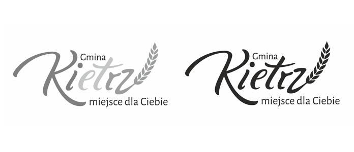 Logo Gmin Kietrz w czerni-bieli