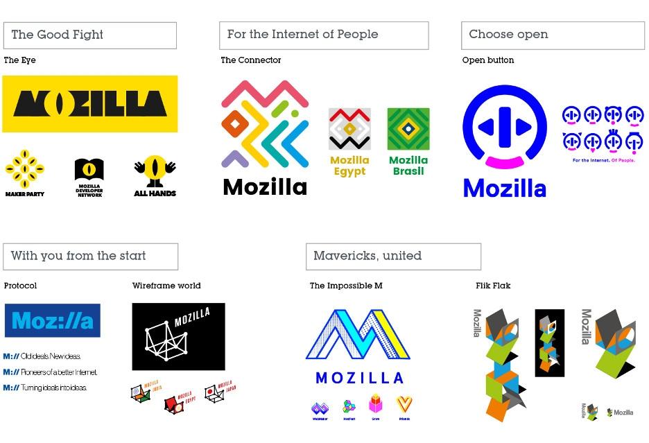 Pierwsze projekty nowego logo Mozilli