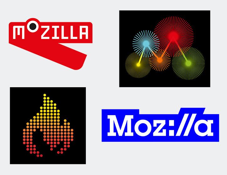Projekty logo Mozilli z września 2016