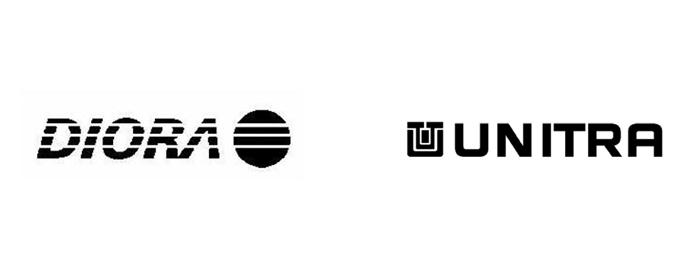 Logo firm Diora i Unitra