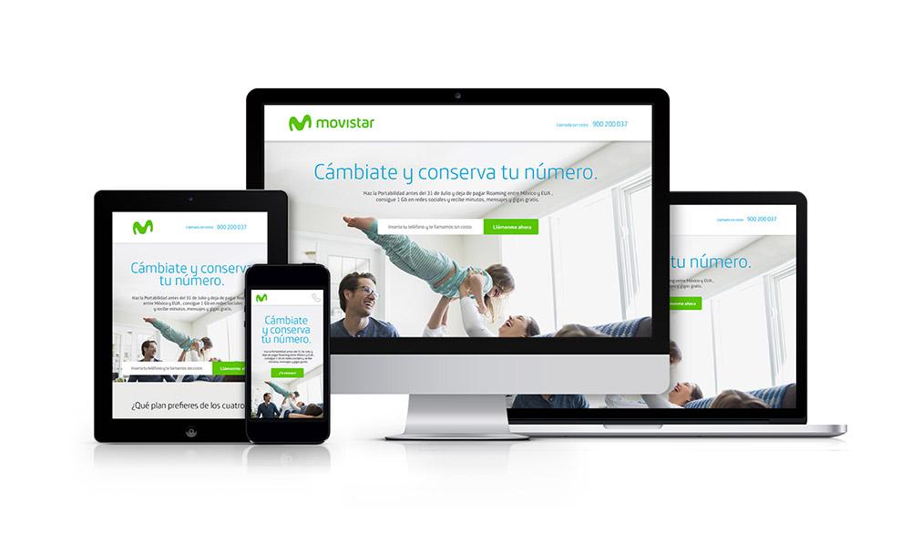 Rebranding Movistar - strona internetowa