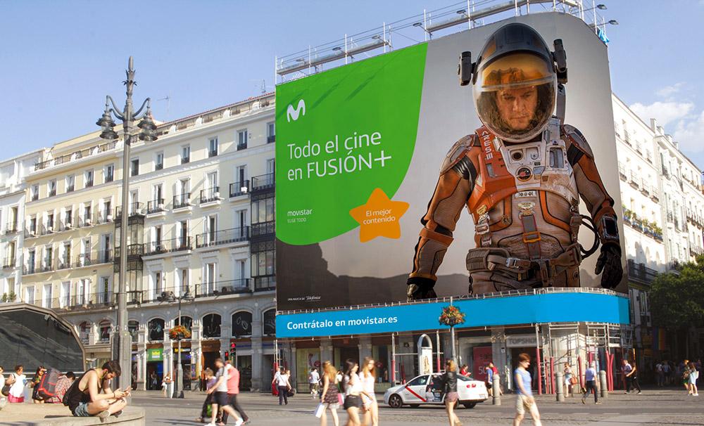 Movistar - nowy billboard