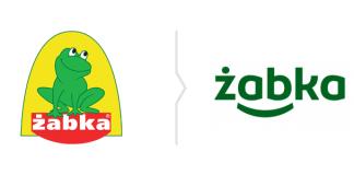 Żabka rebranding - nowe logo