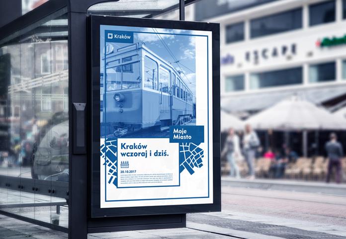 Nowe logo Krakowa - wizualizacja przystanku