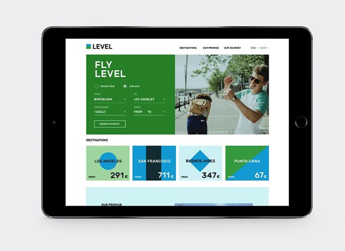 Strona internetowa linii Level