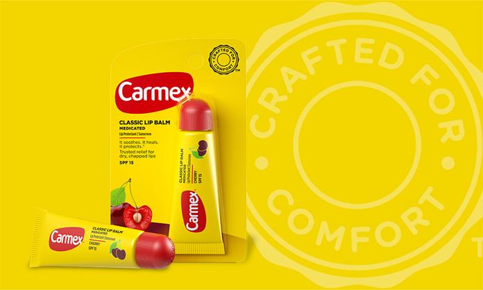 Nowe opakowanie Carmex z odświeżonym logo