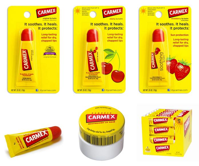 Dotychczasowe opakowania produktów Carmex