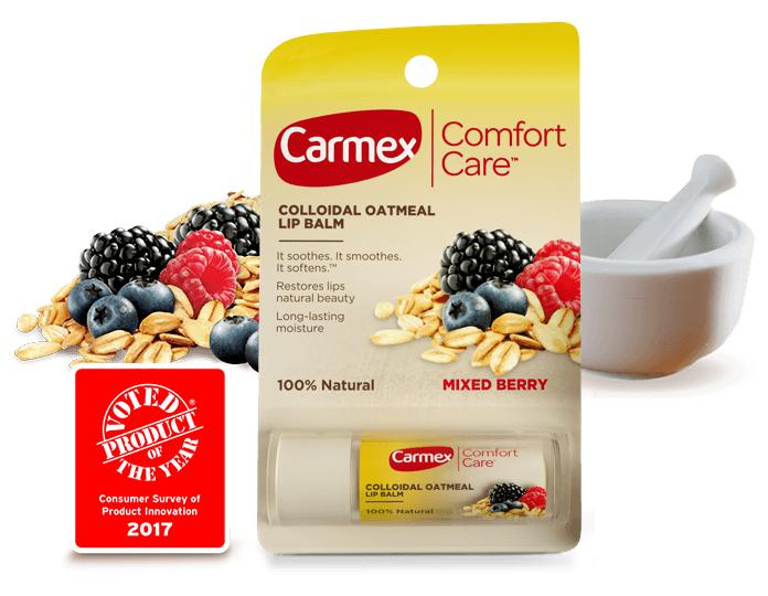Opakowanie Carmex z nowym logo