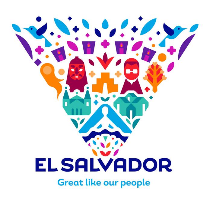 Rebranding Salwadoru - nowe logo w wersji rozszerzonej