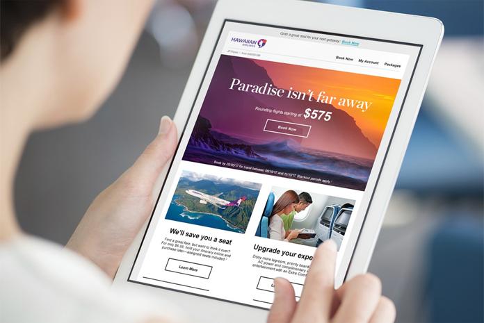 Wizualizacja nowej strony internetowej Hawaiian Airlines