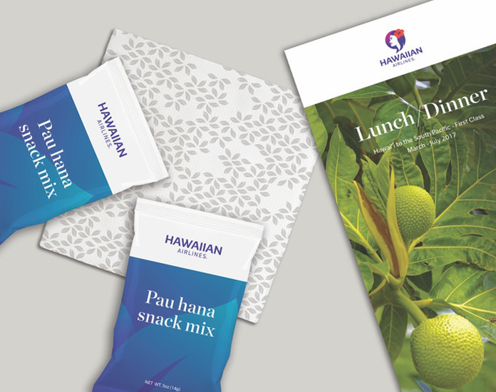Projekty materiałów drukowanych Hawaiian Airlines