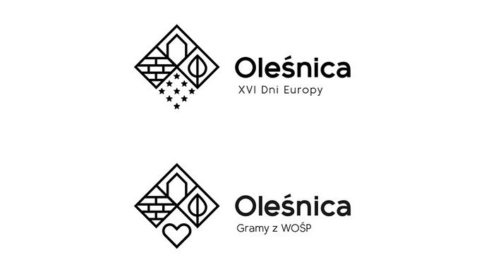 Okolicznościowe warianty nowego logo Oleśnicy