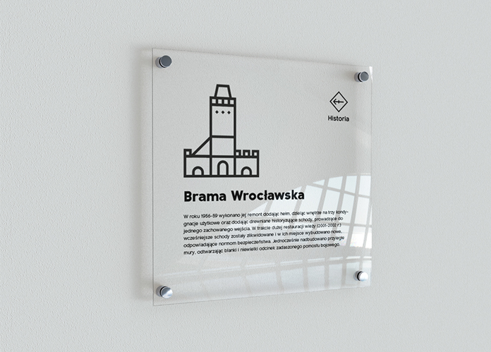 Tabliczka informacyjna - nowa identyfikacja wizualna Oleśnicy