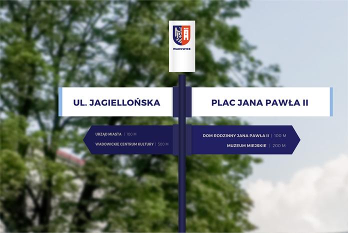 Projekt oznakowania ulic w Wadowicach