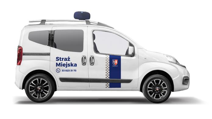 Nowe obrandowanie samochodu straży miejskiej Wadowic