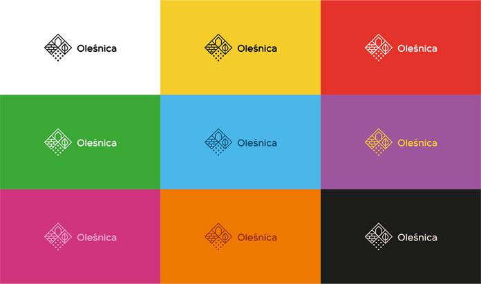 Warianty kolorystyczne nowego logo Oleśnicy