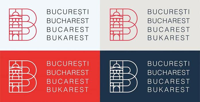 Wersje kolorystyczne nowego znaku Bukaresztu