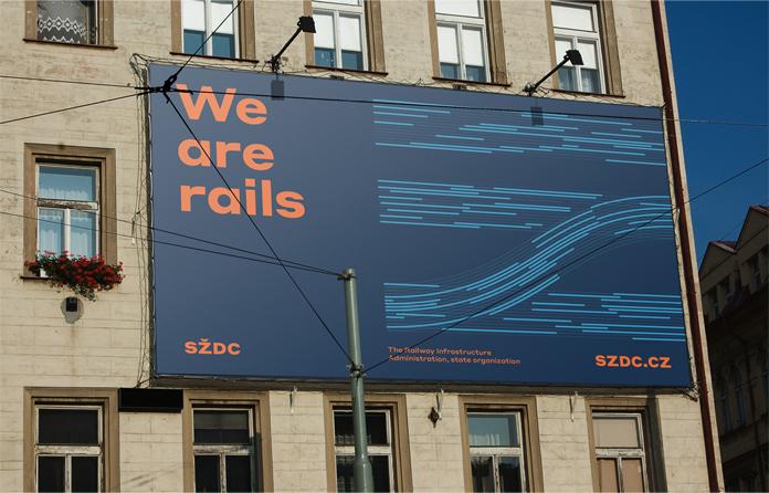 Nowa identyfikacja czeskich kolei - bilboard