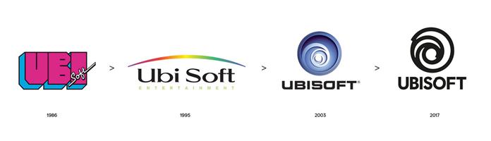 Ewolucja logo Ubisoft