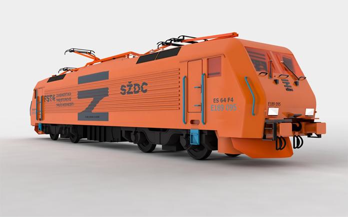 Pociąg SŽDC w nowych barwach