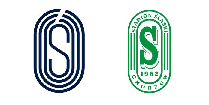 Porównanie nowego logo Stadionu Śląskiego