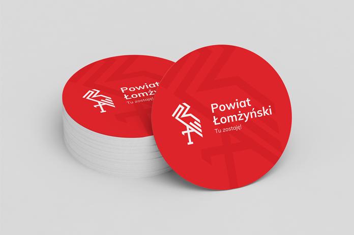 Powiat łomżyński nowe logo