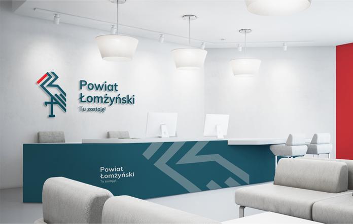 Wizualizacja nowego logo powiatu łomżyńskiego