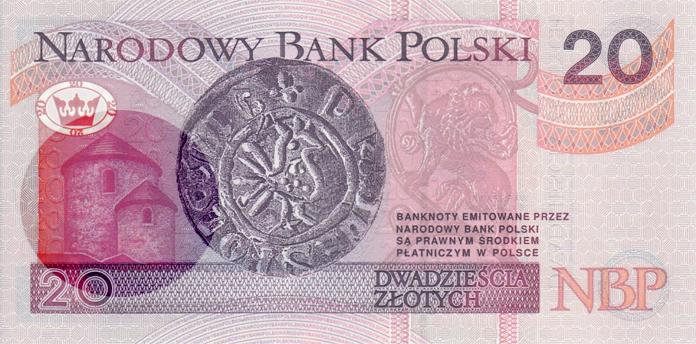 Rotunda św. Mikołaja zaznaczona na banknocie 20-złotowym