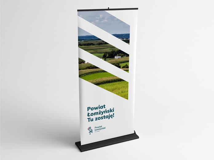 Wizualizacja znaku powiatu łomżyńskiego
