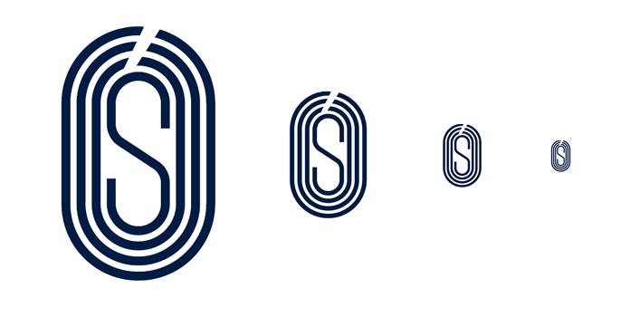 Różne rozmiary nowego logo chorzowskiego stadionu