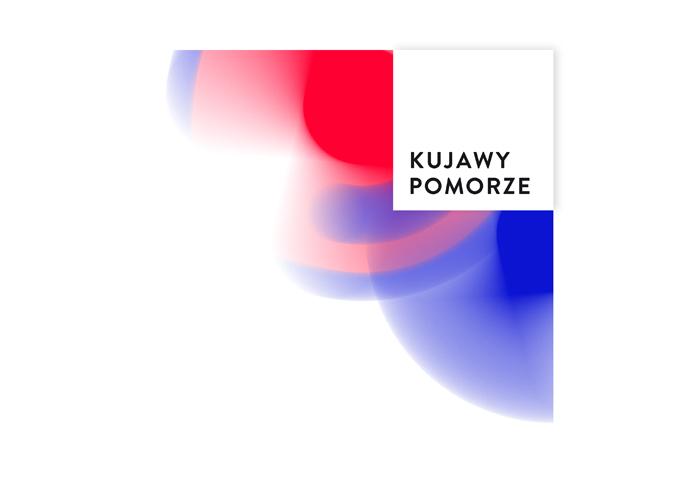 Logo kujawsko-pomorskiego w wersji narożnej