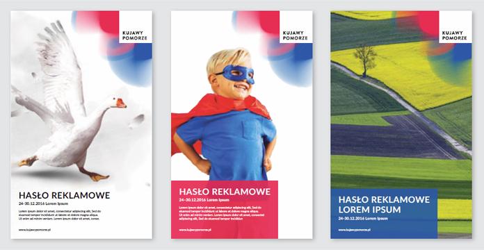 Projekty plakatów z nowym logo kujawsko-pomorskim