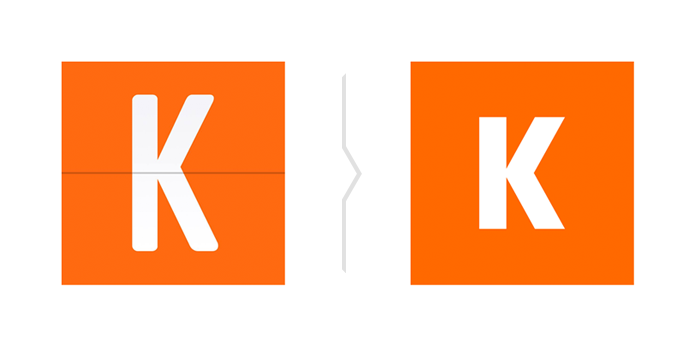 Stary i nowy styl logo Kayak