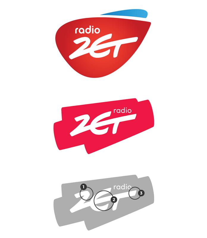 Różnice między nowym a starym logo Radia Zet