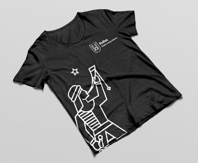 Trębacz jako akcent na koszulce - nowa identyfikacja Kalisza