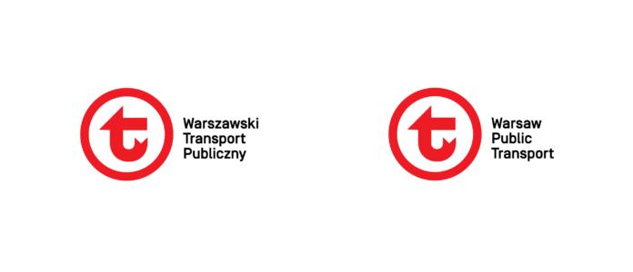 Warianty logo Warszawskiego Transportu Publicznego z logotypem
