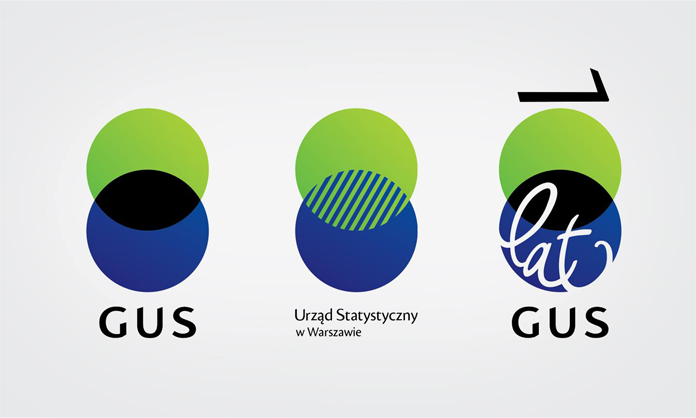 Warianty nowego logo GUS